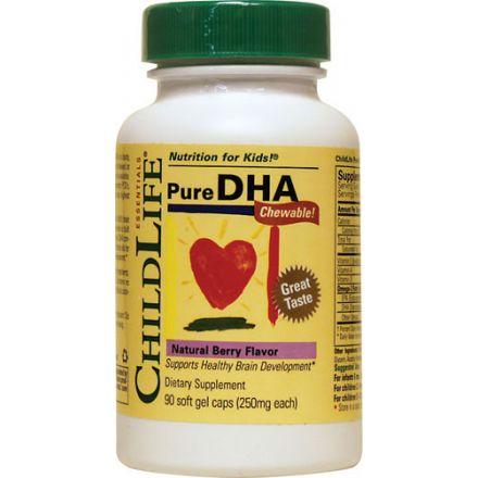 ChildLife 純正DHA,莓果味 90 粒軟膠囊(每粒250毫克)