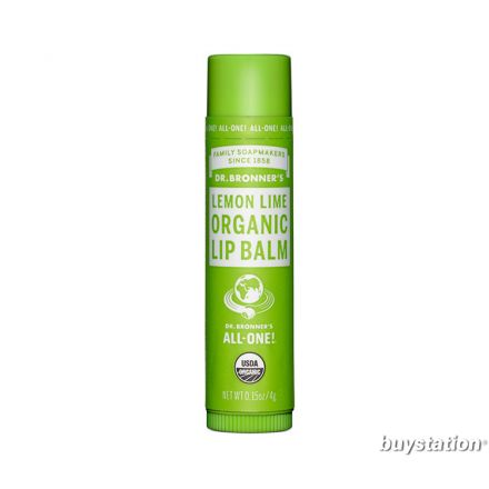 Dr. Bronner's Organic Lip Balm, Lemon Lime (0.15 oz)
