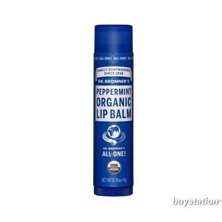Dr. Bronner's Organic Lip Balm, Peppermint (0.15 oz)