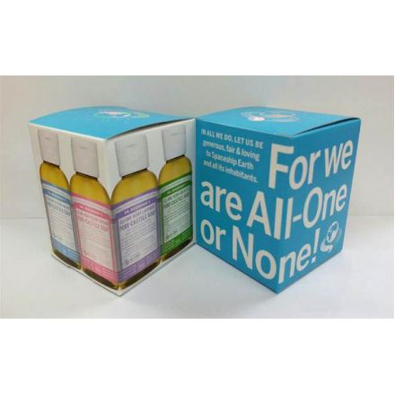 Dr. Bronner's, 2 oz. 粉藍禮盒