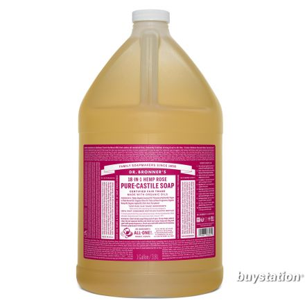 Dr. Bronner's, 玫瑰潔顏液 - 1加侖