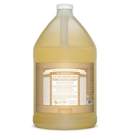 Dr. Bronner's, 檀香茉莉潔顏液 - 1加侖