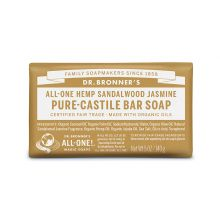 Dr. Bronner's, Sandalwood & Jasmine Bar Soap, 5 oz (140 g)