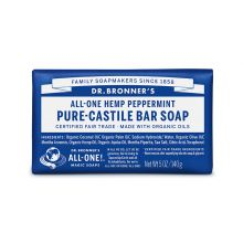 Dr. Bronner's, Peppermint Bar Soap, 5 oz (140 g)