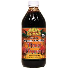 Dynamic Health, Organic Certified, Tart Cherry Juice Concentrate, 16 fl oz (473 ml) - Glass
