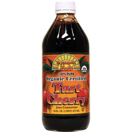 Dynamic Health, Organic Certified, Tart Cherry Juice Concentrate, 16 fl oz (473 ml) - Glass