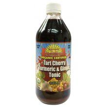 Dynamic Health, 有機認證,酸櫻桃薑黃生薑配方, 16 fl oz (473 ml)