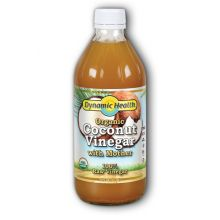 Dynamic Health Organic Coconut Vinegar with Mother, 16 fl oz (473 ml)
