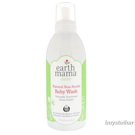 Earth Mama 地球媽媽 天然無香味嬰兒沐浴露 34 fl oz (1 L)