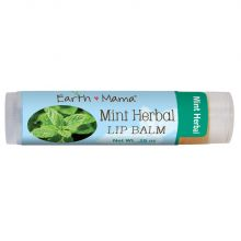 Earth Mama, Organic Smoothie Lip Balm (Mint Herbal), 4 ml