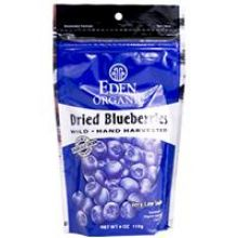 Eden Foods, Dried Blueberries, Organic, 4 oz (113 g)