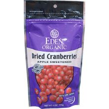 Eden Foods, Organic Dried Cranberries, 4 oz (113 g)