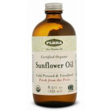 Flora, Certified Organic Sunflower Oil, 8.5 fl oz (250 ml)