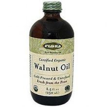 Flora, Certified Organic Walnut Oil, 8.5 fl oz (250 ml)