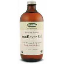 Flora, Certified Organic Sunflower Oil, 17 fl oz (500 ml)