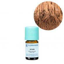 Florihana, Organic Vetiver Essential Oil, 5g