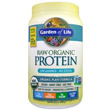 Garden of Life, RAW Organic Protein, Organic Plant Formula, Unflavored, 20oz (568g)