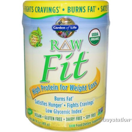 Garden of Life, RAW Organic Fit, 控制體重原味蛋白粉 15.1 oz (427g)