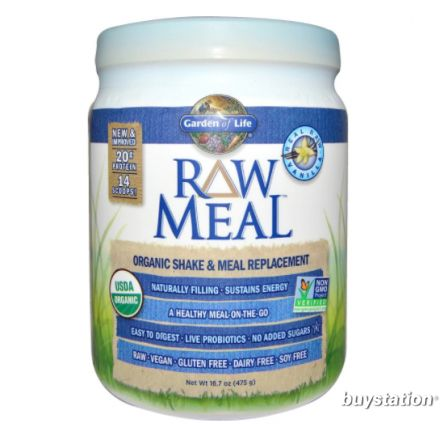 Garden of Life, RAW Meal, Organic Shake & Meal Replacement, Vanilla, 17.1 oz (484g)
