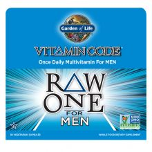 Garden of Life, Vitamin Code, Raw One, Once Daily Raw Multi-Vitamin for Men, 30 Veggie Caps