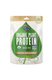 Garden of Life, Organic Plant Protein, Smooth Unflavored, 8.3oz (236g)