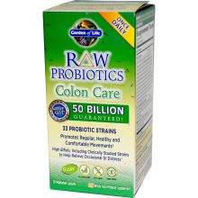 Garden of Life, RAW Probiotics, Colon Care, 30 Veggie Caps