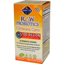 Garden of Life, RAW Probiotics, Ultimate Care, 30 Veggie Caps
