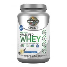 Garden of Life, Sport, Certified Grass Fed Whey Protein, Refuel, Vanilla, 1.4 lbs (652g)