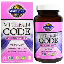 Garden of Life, Vitamin Code, 50 & Wiser Women, Raw Whole Food Multivitamin, 120 Veggie Caps