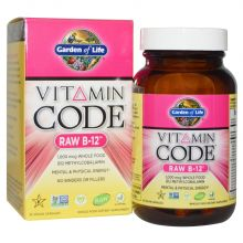 Garden of Life, Vitamin Code, Raw B-12, 30 Vegan Caps