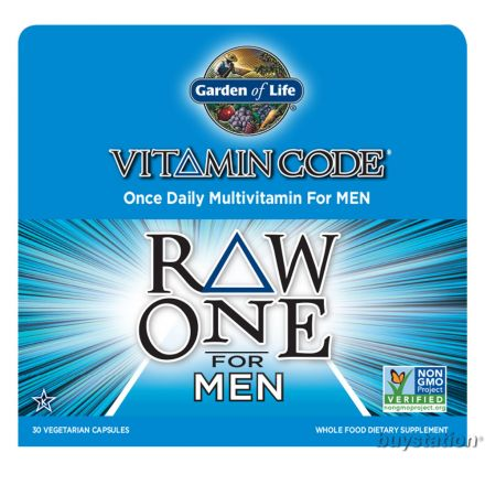 Garden of Life, Vitamin Code, Raw One, 男性綜合維他命, 30 素食膠囊