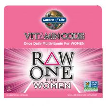 Garden of Life, Vitamin Code, Raw One, 女性綜合維他命, 30 素食膠囊