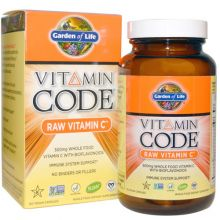 Garden of Life, Vitamin Code, Raw Vitamin C, 120 Vegan Caps