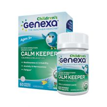 Genexa, Calm Keeper, 有机草本儿童鎮靜放松咀嚼片 (香草薰衣草味) 60片