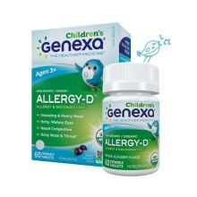Genexa, Allergy-D 儿童装, 有机草本舒敏咀嚼片 (巴西莓味) 60片