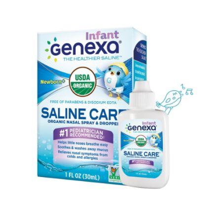 Genexa, Saline Care™ 有機鼻腔噴霧劑/滴管(兒童裝)