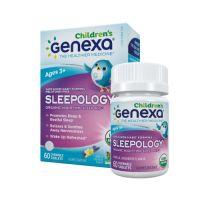 Genexa, Sleepology, 有機草本兒童夜間安睡咀嚼片 (香草薰衣草味) 60片