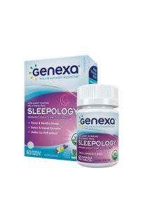 Genexa, Sleepology, 有機草本夜間安睡咀嚼片 (香草薰衣草味-不含褪黑激素) 60片