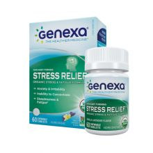 Genexa, Stress Relief, 有机草本舒压咀嚼片 (香草薰衣草味) 60片