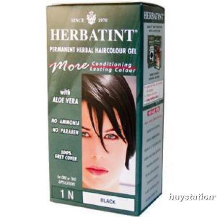 Herbatint, 純天然植物染髮劑, 4.5 fl oz - 1N