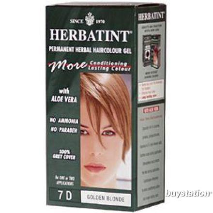 Herbatint, 純天然植物染髮劑, 4.5 fl oz - 7D