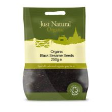 Just Natural, Organic Black Sesame Seeds, 250g