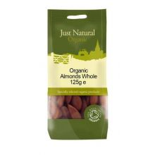 Just Natural, Organic Almond Whole, 125g