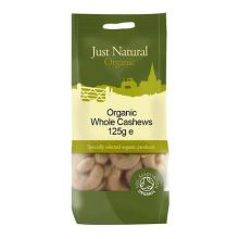 Just Natural, Organic Cashews Whole, 125g