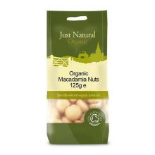Just Natural, Organic Macadamia Nuts, 125g