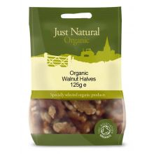 Just Natural, Organic Walnut Halves, 125g