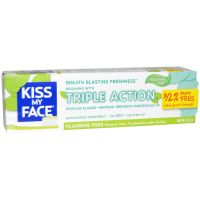 KISS MY FACE Triple Action Toothpaste, 3.4 oz