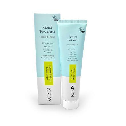 Kurin 無氟天然蘆薈牙膏 100ml - 胡椒薄荷味