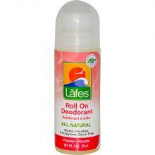 Lafe's Natural Hemp Oil Roll-On Deodorant, 3oz (89ml) - powder