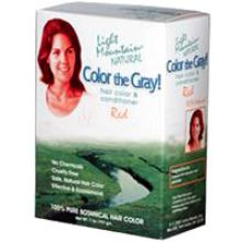 Light Mountain, Color the Gray! Natural Hair Color & Conditioner - Red